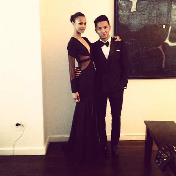Prabal Gurung is taking a sexy-looking Zoe Saldana as his date.