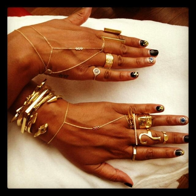 Designer Rachel Roy shares a snap of her gorgeous gypsy jewellery.