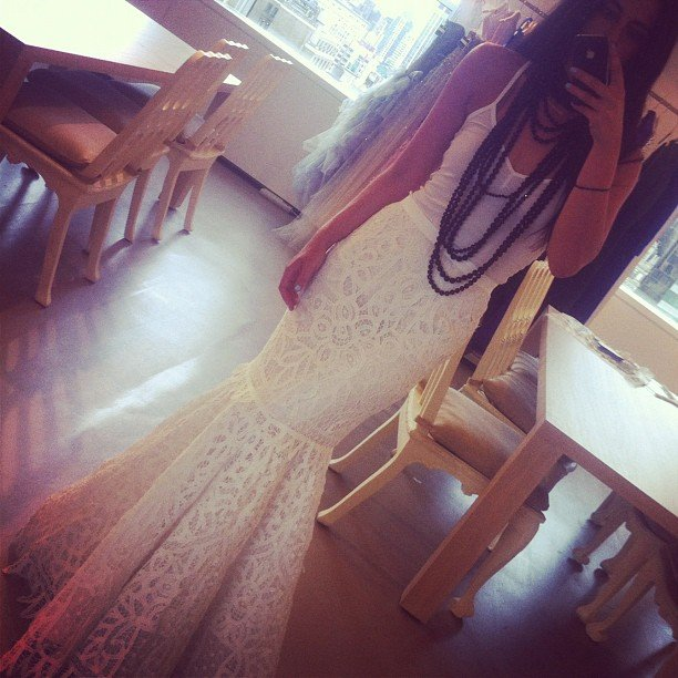 Oscar PR Girl snapped a shot of her dramatic fishtail skirt before dashing out the door. Delish!