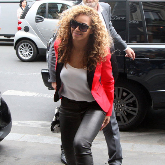 Beyonce Wearing a Red Blazer