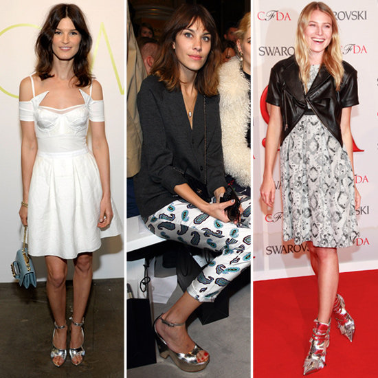 Celebrities Go Fashion Forward in the Newest Footwear Trend: Silver Mirrored Shoes