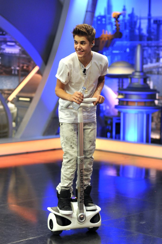 Justin Bieber got silly on the set ofEl Hormiguero.