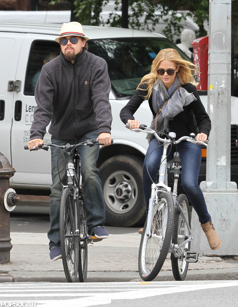 Leonardo DiCaprio and girlfriend Erin Heatherton went for a bike ride together in NYC.