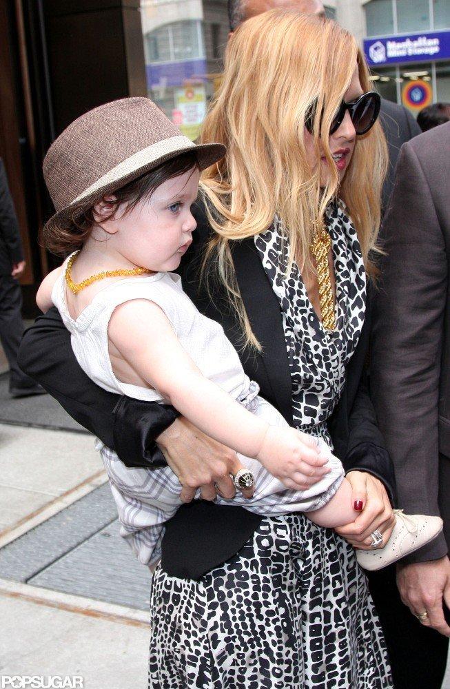 Rachel Zoe carried baby Skyler in SoHo.