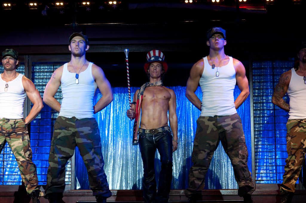 Joe Manganiello, Alex Pettyfer, Matthew McConaughey and Channing Tatum in Magic Mike.