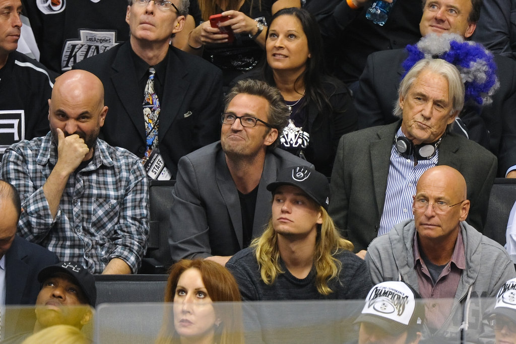 Matthew Perry got into the LA Kings Stanley Cup finals game in LA.