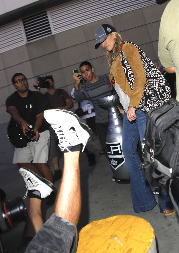 Kate Hudson attended the LA Kings Stanley Cup finals game in LA.