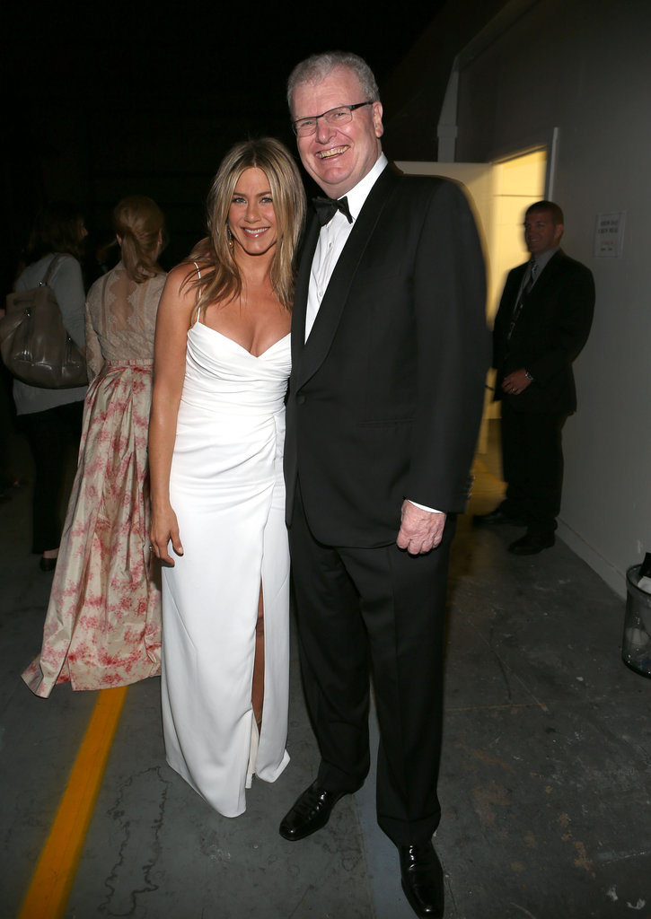 Jennifer Aniston at an AFI gala with Howard Stringer.