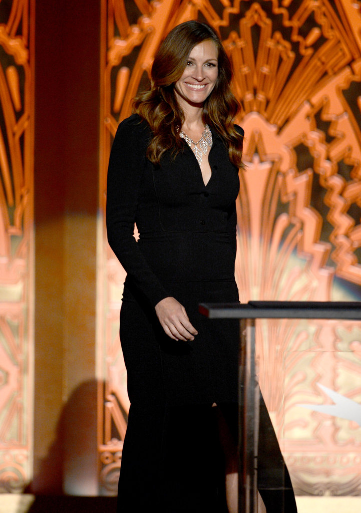 Julia Roberts spoke onstage at the AFI Life Achievement Award dinner honouring Shirley MacLaine in LA.