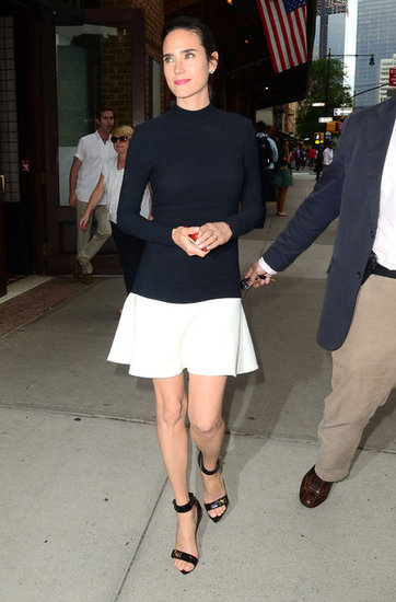 Jennifer Connelly looked chic in black and white.