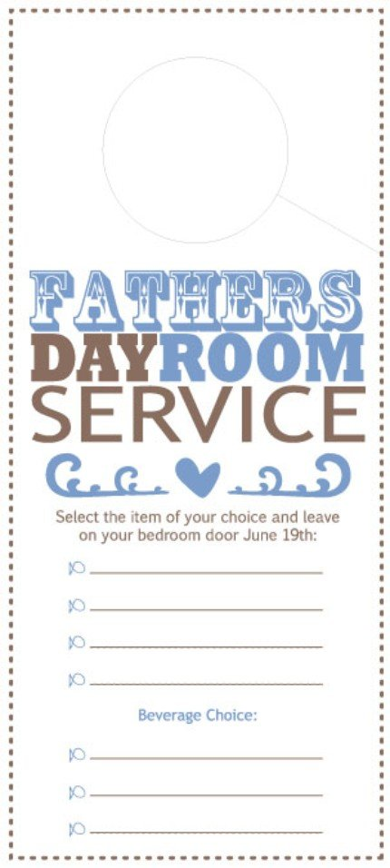 Father's Day Room Service