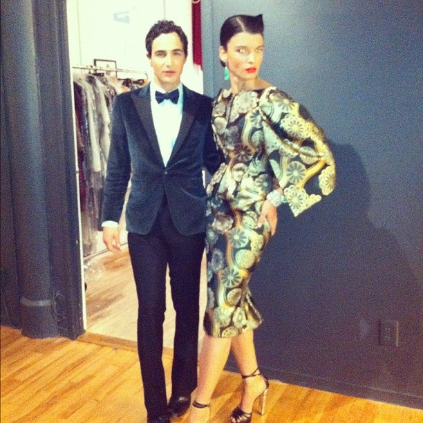 Zac Posen looked sharp with his date at the CFDAs.
