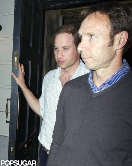 Prince William was seen leaving the club in a button up shirt.