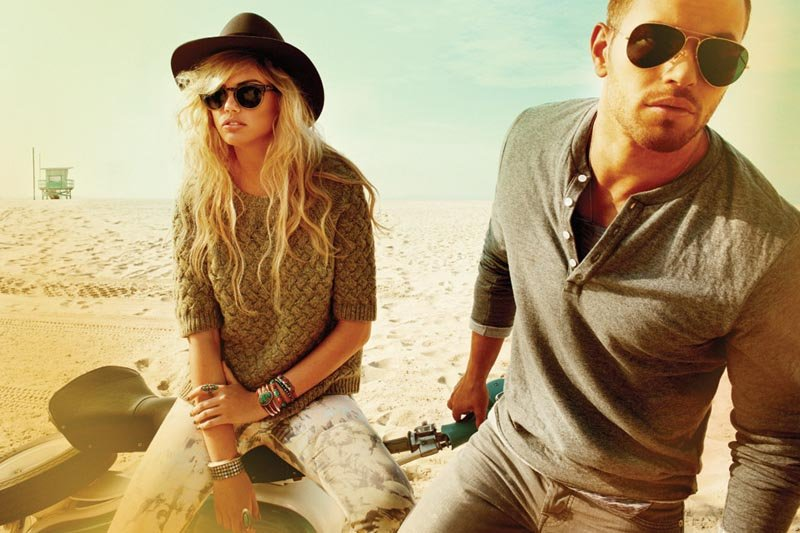 Kate Upton and Kellan Lutz star in Abbot and Main's Fall 2012 campaign and look nothing short of California cool.