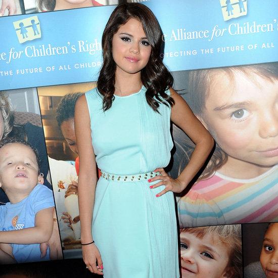 Selena Gomez Turquoise Dress