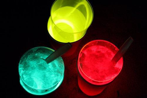 Make Glow-in-the-Dark Drinks