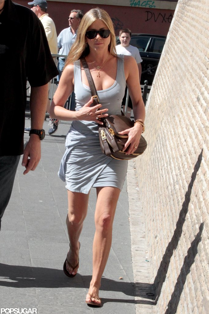 Jennifer Aniston strolled in Rome.