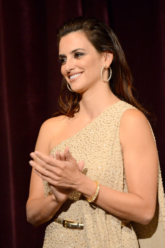 Penelope Cruz applauded at the premiere of To Rome With Love in LA.