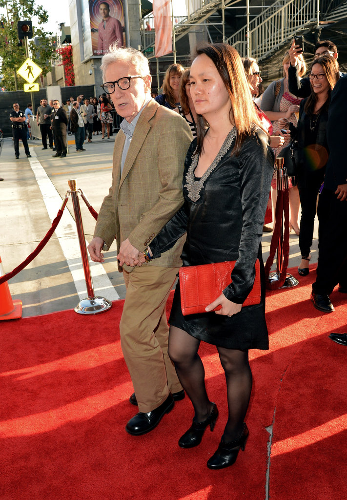 Woody Allen and Soon-yi Previn stepped onto the red carpet at the premiere of To Rome With Love in LA.