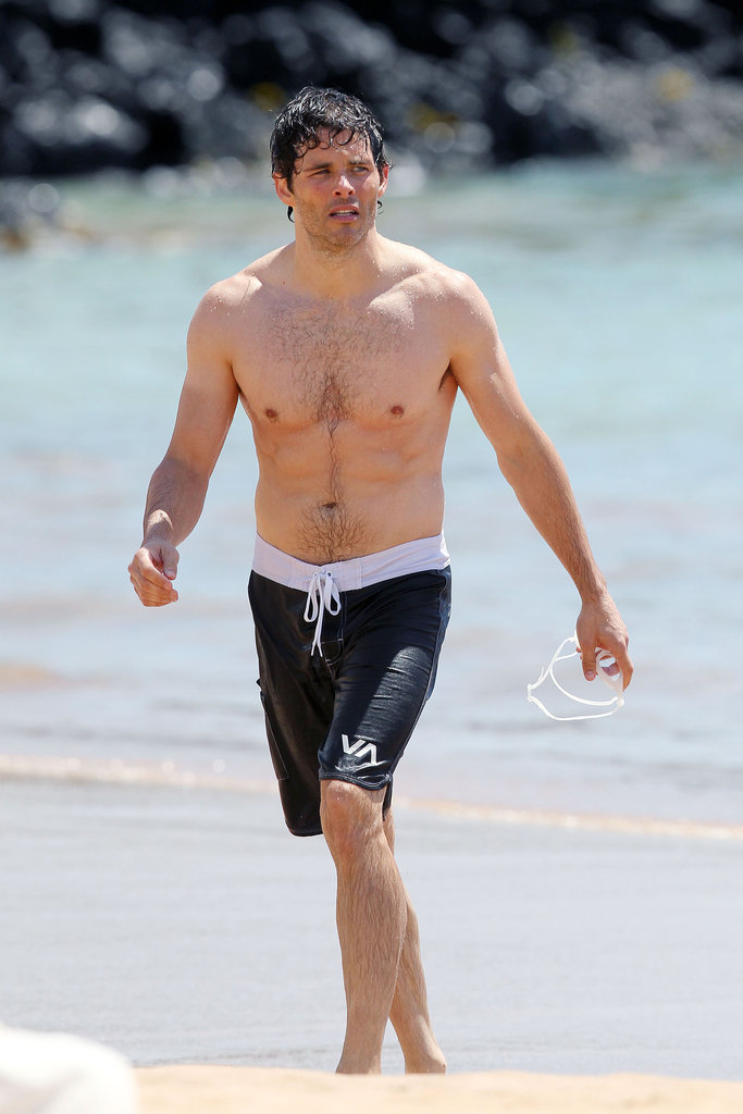 James Marsden got out of the water in Hawaii.