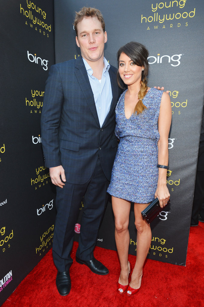 Chris Pratt and Aubrey Plaza