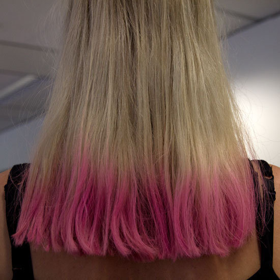 We also realised that the coloured tips trend looks way better on hair that is all one length like Alison's.