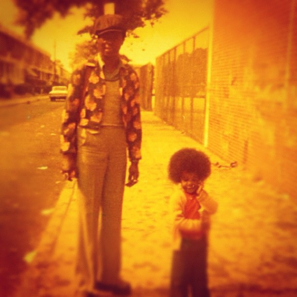 Questlove shared an image from his childhood, featuring his father. Source: Instagram User questlove