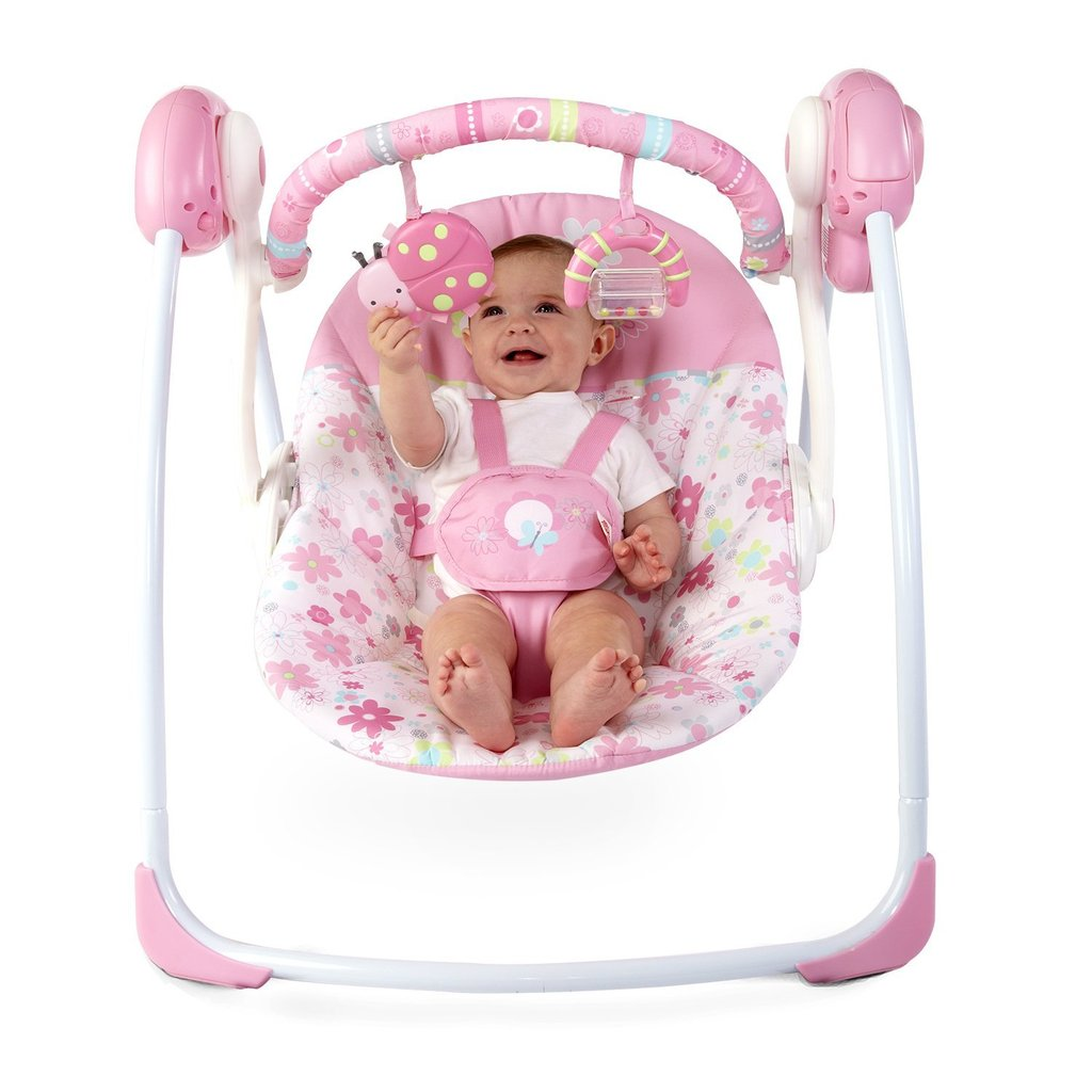 Bright Starts Portable Swing, Blossomy Blooms ($50)