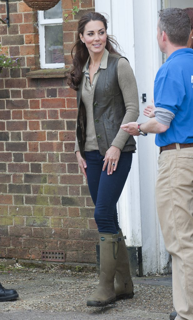 Kate Wore Leather Lined Le Chameau Wellies Do You