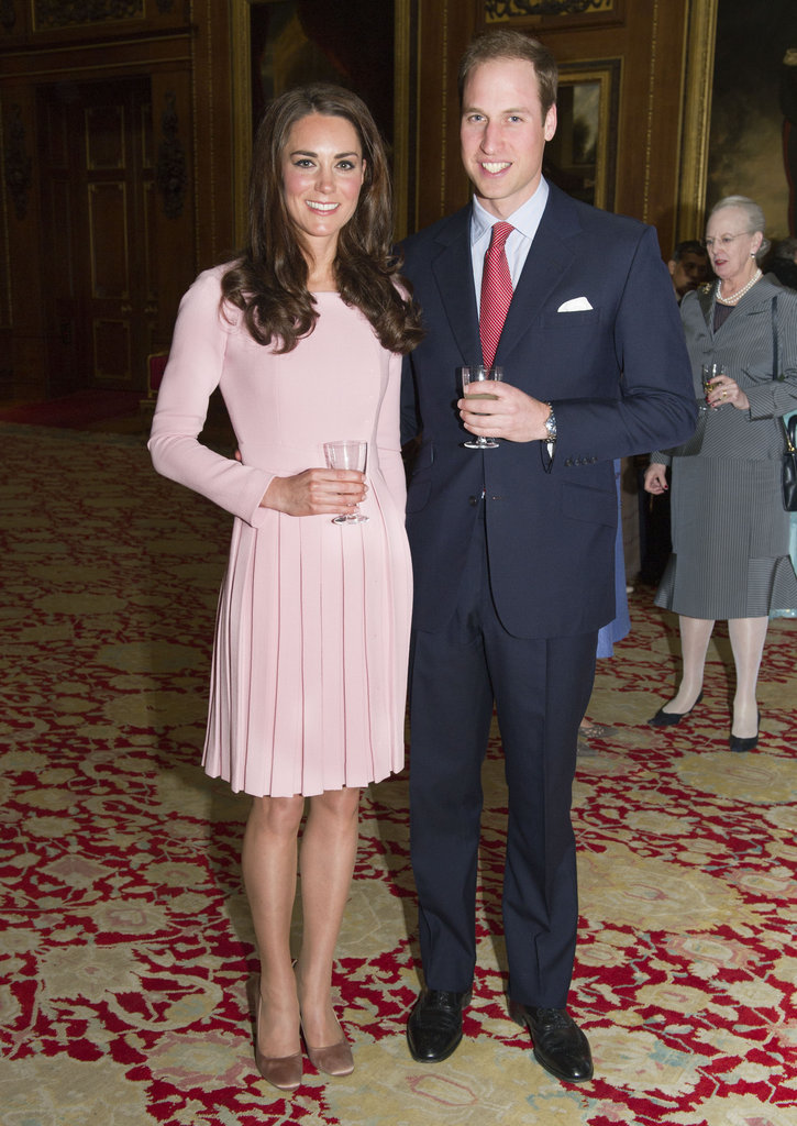 Kate Middleton and Prince William posed for sweet photos while visiting Windsor Castle in May of 2012.