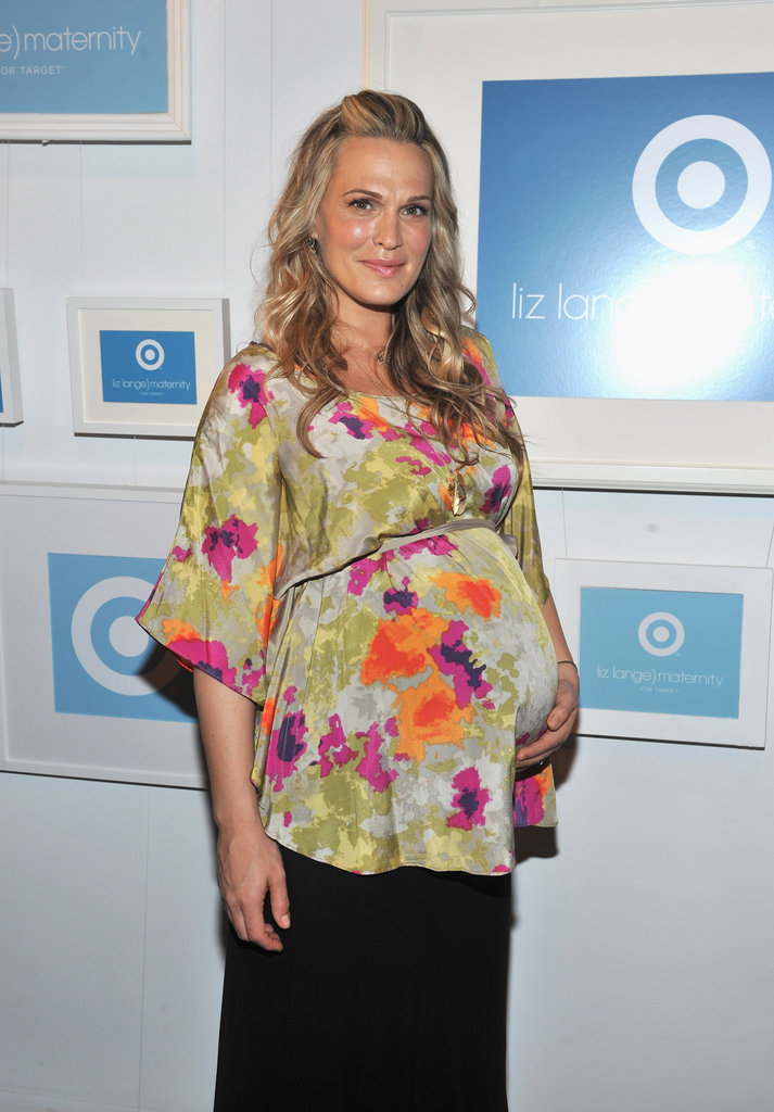 Molly Sims wore Liz Lange for Target to an NYC event to celebrate the maternity clothing design pioneer's 10-year relationship with the store in May. For the occasion, Molly wore a floral tunic and flowing pants from the designer's low-priced line.