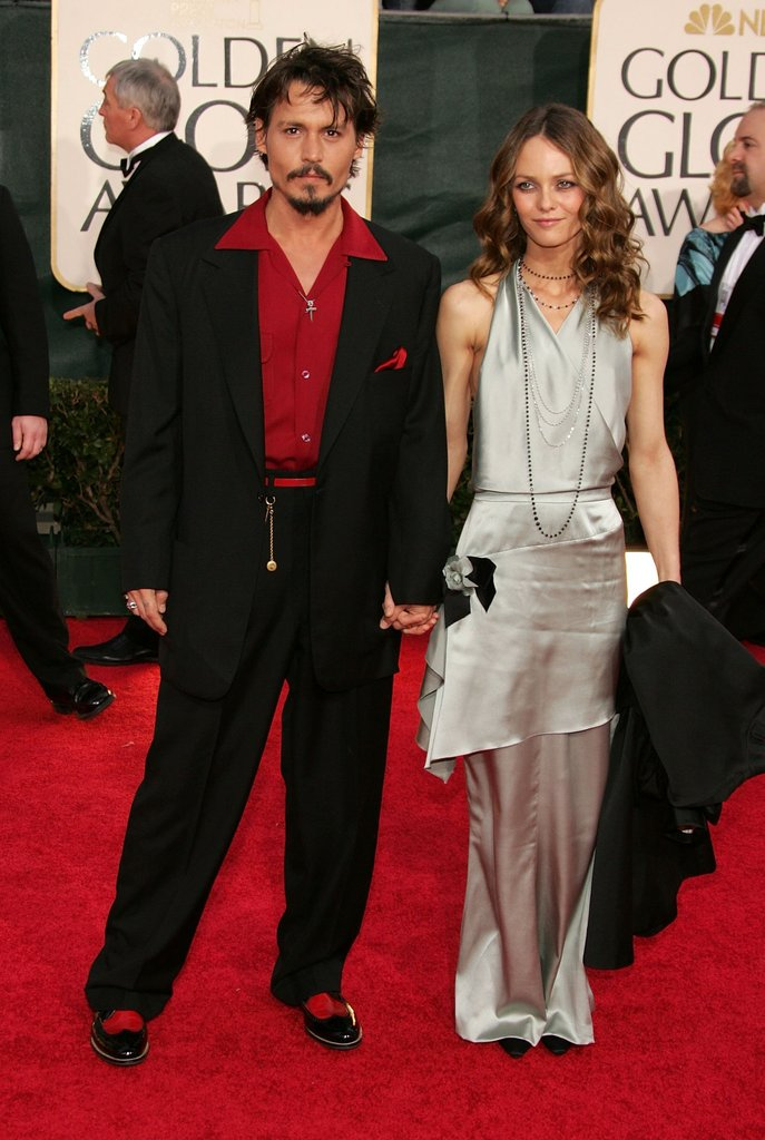 Johnny and Vanessa together on the red carpet at the 2006 Golden Globe Awards.