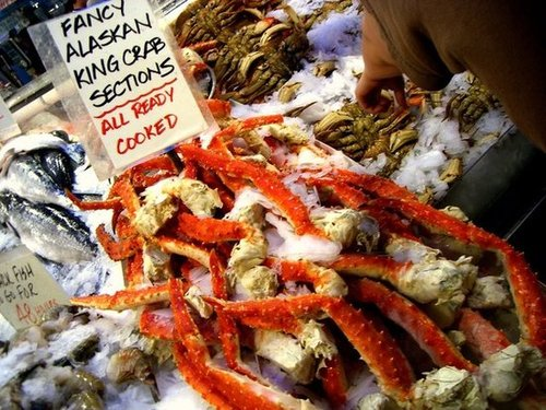 Alaska: King Crab Legs With Butter