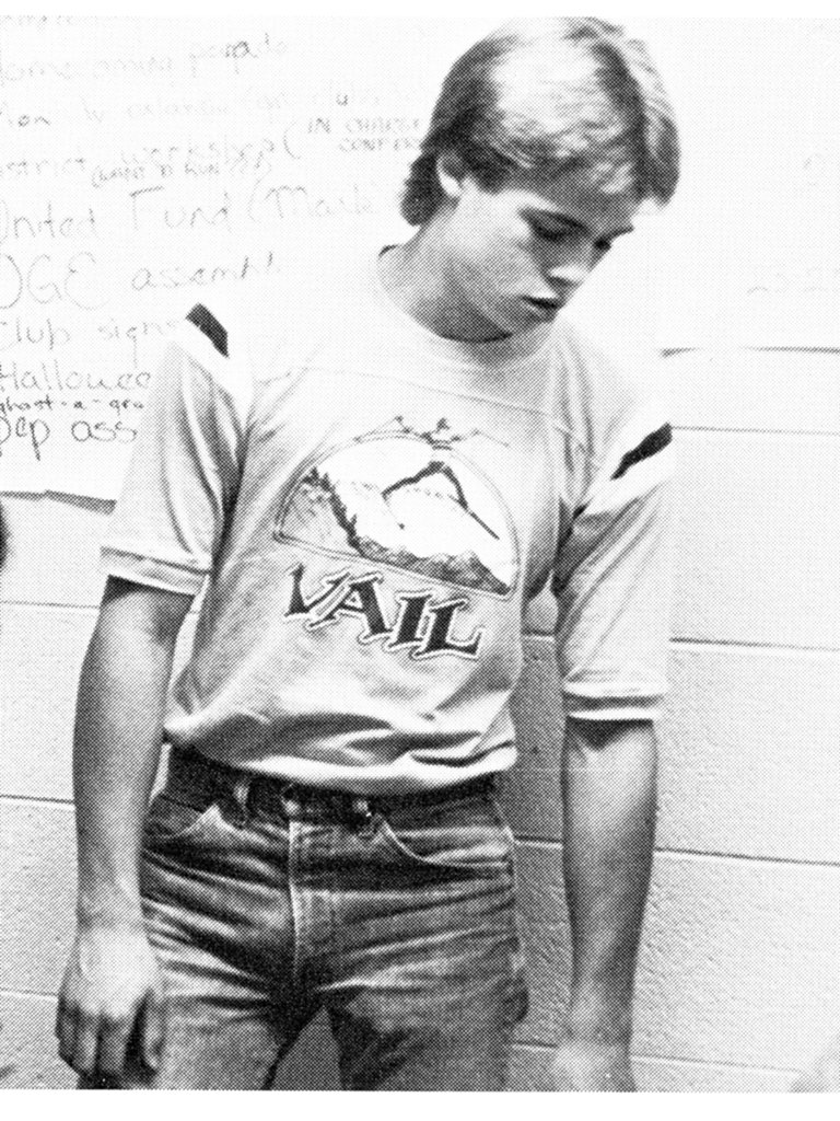 Brad Pitt was all about jeans and t-shirts in high school.