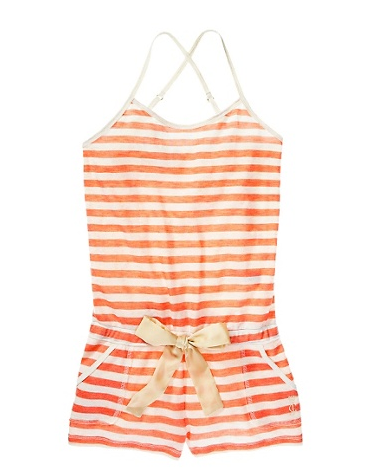 A nod to Summer's classic stripes, this adorable romper is one you might just pair with flip-flops at the beach (when you're not sleeping in it).   Juicy Couture Striped Romper ($68)