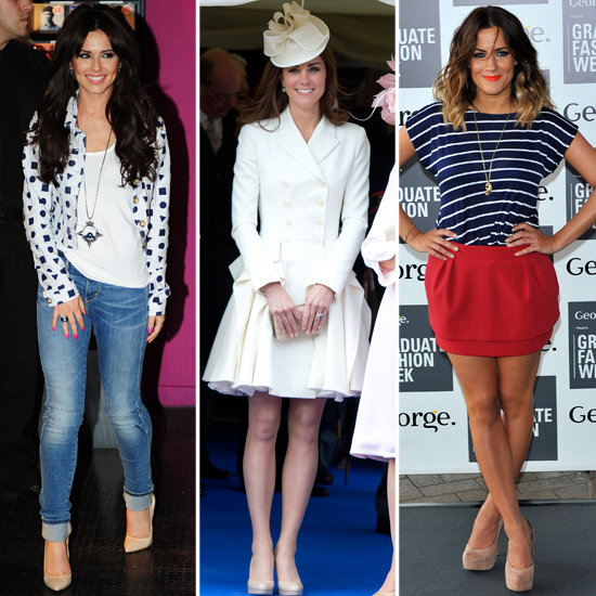 Kate Middleton, Cheryl Cole, Caroline Flack Nude Shoes Trend
