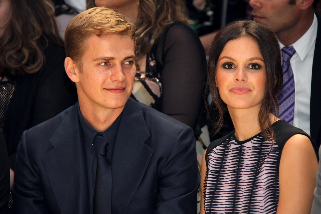 Hayden Christensen and Rachel Bilson at Versace
