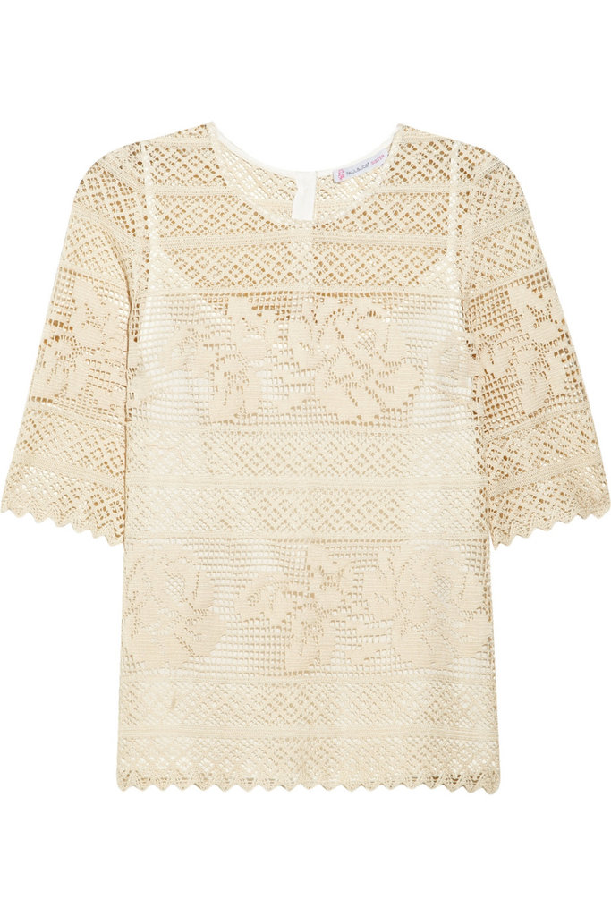 For more formal evenings out, a sweet but sexy lace top will provide the perfect amount of skin-baring detail. Paul & Joe Sister Bailleul Crocheted Cotton Top ($365)