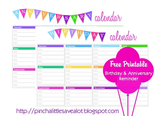 Birthday and anniversary calendar your life organized for Family birthday calendar template