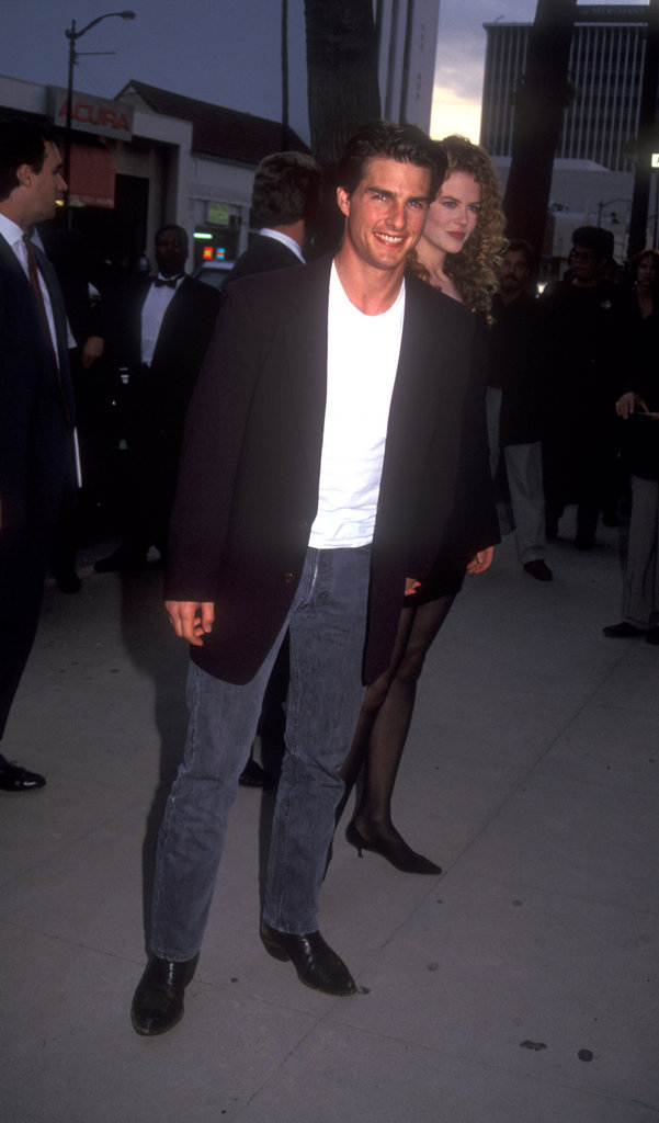 Tom Cruise sported a smile while out in LA in 1993.