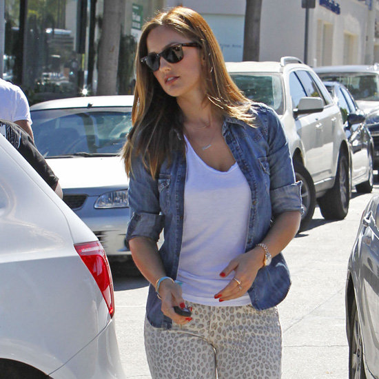 Leopard Jeans (Celebrity Pictures)