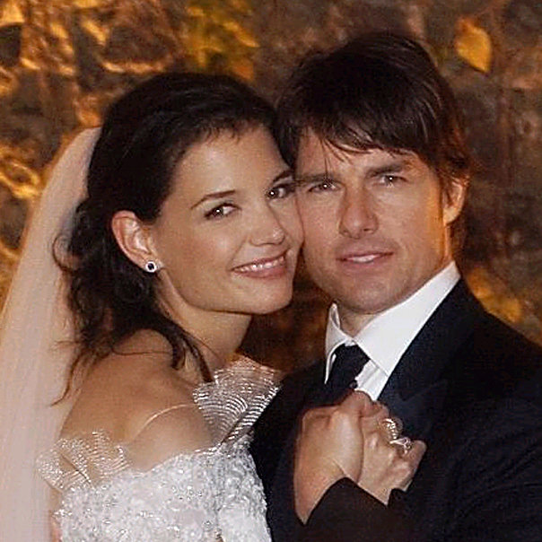 Tom Cruise and Katie Holmes when they were just married.