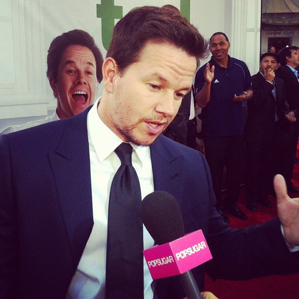 We chatted with Mark Wahlberg at his LA premiere of Ted. Source: Instagram user popsugar