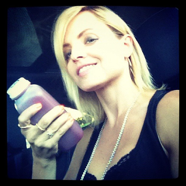 Mena Suvari showed off her healthy meal in this photo. Source: Instagram User mena13suvari