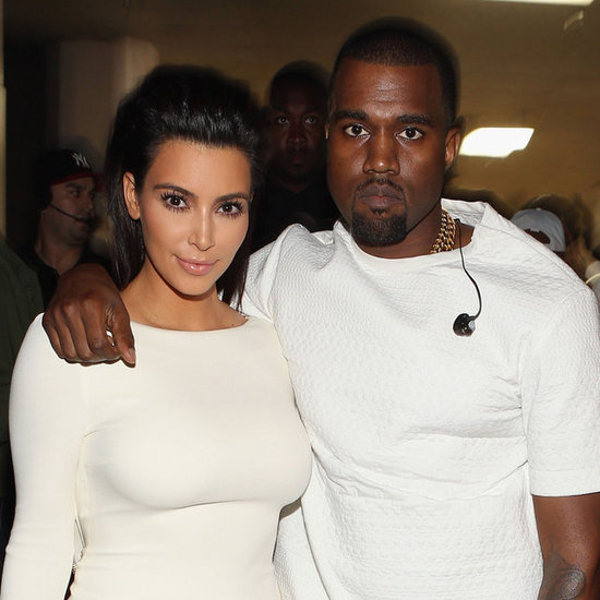 Kanye West and Kim Kardashian Pictures in White at 2012 BET Awards
