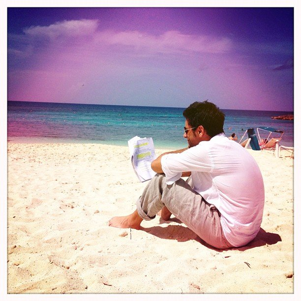 John Stamos hung out at the beach. Source: Instagram Userjockostamps