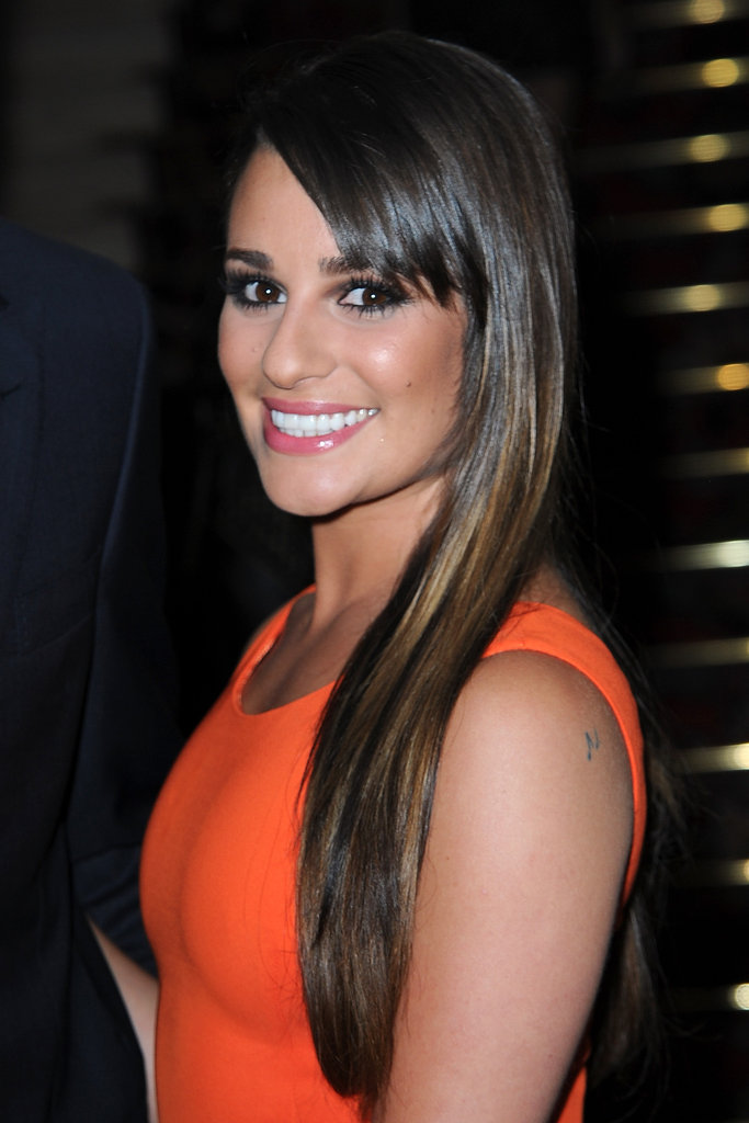 Lea Michele arrived at the Versace show for Paris Fashion Week.