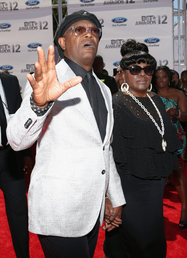 Samuel L. Jackson arrived at the BET Awards in LA.