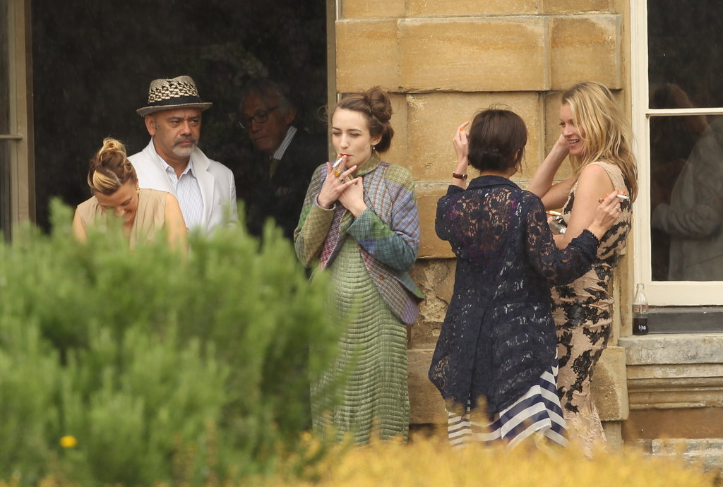 Christian Louboutin, Elizabeth Jagger and Kate Moss