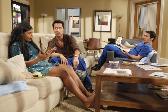 Ed Weeks, Mindy Kaling, and Chris Messina on The Mindy Project.</p> <p>Photo courtesy of Fox